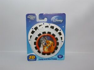NEW Fisher Price 2008 LADY & the TRAMP  View-Master 3D Reels 3 Discs in Package