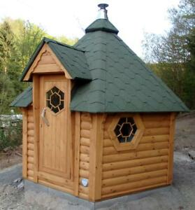 Saunahaus Blockbohlensauna Sauna Gartensauna Aussensauna Sauna Blockhaus, 38451