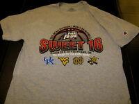 NCAA BASKETBALL Kentucky West Virginia Notre Dame Wichita State 2015 T-Shirt MED
