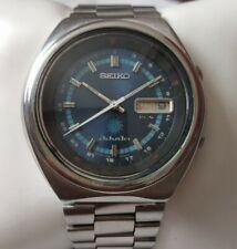Seiko Advan 7019-6050 Blue Dial Kanji Rotating Bezel Stainless Steel Mens Watch