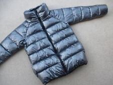 NEXT Shiny SILVER PADDED COAT 9-10yrs WINTER Jacket  Zip-up Lined Anorak EUC