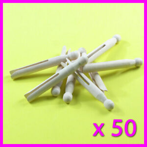 50 x Wooden Dolly Pegs Traditional Clothes Line Washing High Quality Laundry SYD
