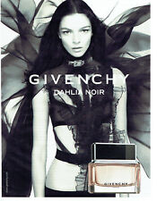 Publicité Advertising 107   2011  Givenchy parfum Dahlia noir & Mariacarla Bonos