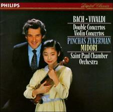 BACH: Double Violin Concertos CD; 1986 Philips (BMG) Zukerman, Midori, Vivaldi