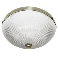 SEARCHLIGHT WINDSOR II CLASSIC FLUSH CEILING LIGHT IN ANTIQUE BRASS 4772AB