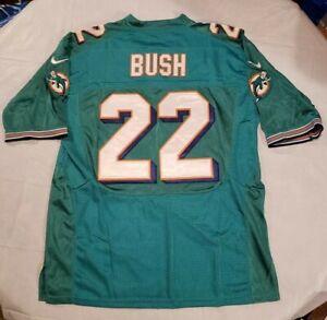 Reggie Bush Miami Dolphins Nike 22 Teal Sewn Jersey 44