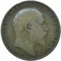 1908 HALF PENNY GB UK EDWARD VII. / COLLECTIBLE COIN    #WT24705