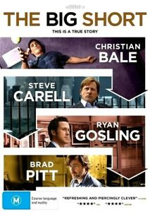 THE BIG SHORT New Dvd CHRISTIAN BALE BRAD PITT RYAN GOSLING ***