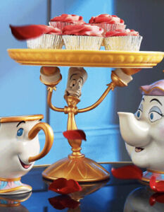Disney Store Lumiere Cake Stand Beauty and the Beast