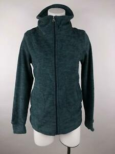 Alpine Design Women S Blue Full Zip Mock Neck Pockets Heather Fleece Jacket
