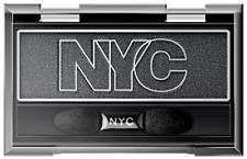 NYC CITY MONO EYESHADOW #914 BLACK PRESSED POWDER SMOKEY SHIMMER SULTRY EYES