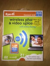 Eye-fi Share Video 4 GB SDHC Card Wireless Photo Video Upload Connect X2 Wi-fi
