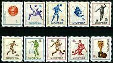 Albania 1966 MNH 10v, World Cup Soccer England, Football, Maps, Sports