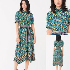 £476 Genuine DVF Dress, Diane Von Furstenberg Kendyl Silk Crepe De Chine Dress