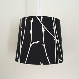 Beautifully Handmade Empire Lampshade In Vintage Monochrome Scandinavian Fabric