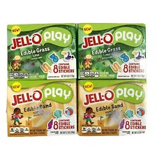 Jello Edible Play Sand & Grass LOT 4 Stickers Lime Vanilla New Sealed