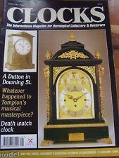CLOCKS MAGAZINE - JANUARY 1996 DEATH WATCH CLOCK SETH THOMAS VINCENTI LYRE