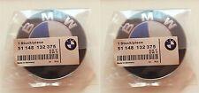 2x FOR BMW 82 mm emblem SET Blue/White Emblem Logo For BMW e60 e90 e46 e61 e39