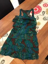 MARKS AND SPENCER LIMITED COLLECTION 100% SILK RAARAA DRESS -SIZE 8 - BNWT