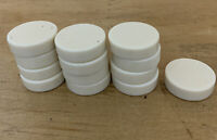 """Lot of 13 Backgammon Replacement Pieces 1 1/8"""" White/Cream"""
