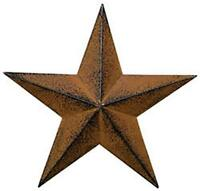 """Large Steel Metal Antique Barn Star Rustic Country Primitive Wall Décor 24"""""""