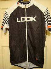Look Bicycle zip pouch cargo jersey shirt sz L mens Reflective !