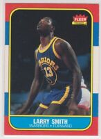 1986-87  LARRY SMITH - Fleer  Basketball Card # 104 - GOLDEN STATE WARRIORS