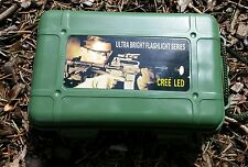 G700 KIT * Military Tactical Flashlight - Car & Wall Chargers with Battery