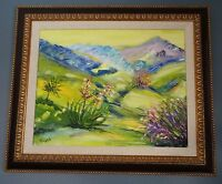 Elliot Fallas -Endless Summer-Framed Orig. Oil Painting on Canvas Signed w/COA.