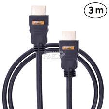 Cable Doble HDMI Macho 3 Metros 3m Largo Prolongador Conexión TV v53