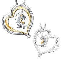 Women 18K Gold Plated Little Donkey Necklace Heart Pendant Bib Chain Jewelry