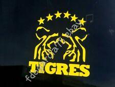 "Tigres Uanl Cut Decal Sticker Amarillo 5X5"" 7 Estrellas"