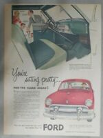 Ford Car Ad: Your Sitting Pretty! from 1951 Size: 11 x 15 inches