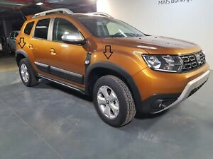 DACIA DUSTER 2017 - 2019 WHEEL ARCH CLADDINGS ABS PLASTIC GRAINED - 2025FF001
