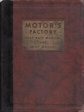 1st Edition Motors Shop Manual 1931 1932 1933 1934 1937 RARE Original First Ed.