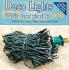 SET 100 RICE seed  LIGHTS GREEN CORD for TREE WREATH GARLAND 19 5 feet long  ap