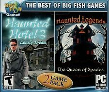 Haunted Legends QUEEN OF SPADES + HAUNTED HOTEL 3 Hidden Object PC Game CD NEW