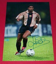 PATRICK KLUIVERT HAND SIGNED AUTOGRAPH 12X8 PHOTO BARCELONA SOCCER