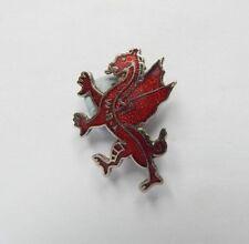 Vintage enamel Welsh Bowling Association Dragon Badge 2.5 cm x 2 cm