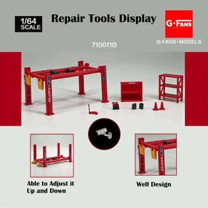 Diorama 1/64 Garage Tools Set Parking Lot Alloy Model Car Display 12PCS/SET