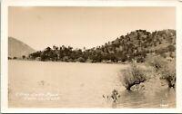 Vtg Postcard RPPC Clearlake California CA Clear Lake Park Lake Co. Shoreline UNP
