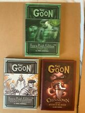 GOON FANCY PANTS Edition 2 3 & CHINATOWN Signed Remarqued Eric Powell hardcovers