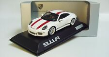 1:43 SPARK 2016 PORSCHE 911R (991 II) white red LE 1911 pcs RARE Dealer Promo
