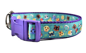 Animal Crossing ACNH Dog Collar Boy Girl Medium Large Cute Pink Purple