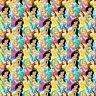 Disney Princess 65574 Multi Princess Packed 100% Cotton Fabric by the Yard