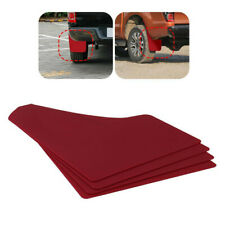 4 Pcs Red Rally Racing Flexible Mud Flaps Splash Guard Performance Car/Truck/SUV