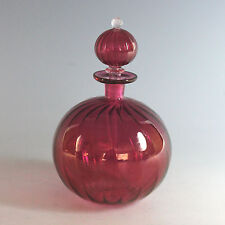 Ruby Red Hand Blown Perfume Bottle with Stopper