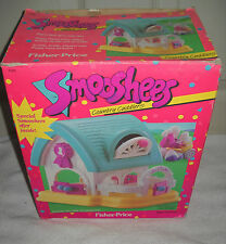 #6913 Nib Vintage Fisher Price Smooshees Country Cuddlers Stable w/Peggy Pony