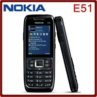 Nokia E Series E51 Black Steel (Unlocked) WIFI bluetooth JAVA durabl Smartphone