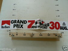 STICKER,DECAL MARLBORO GRAND PRIX ZANDVOORT 30 AUG FORMULA ONE IS DAMAGED